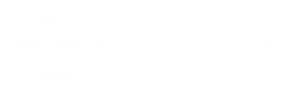 Peacock Digital Marketing white long logo