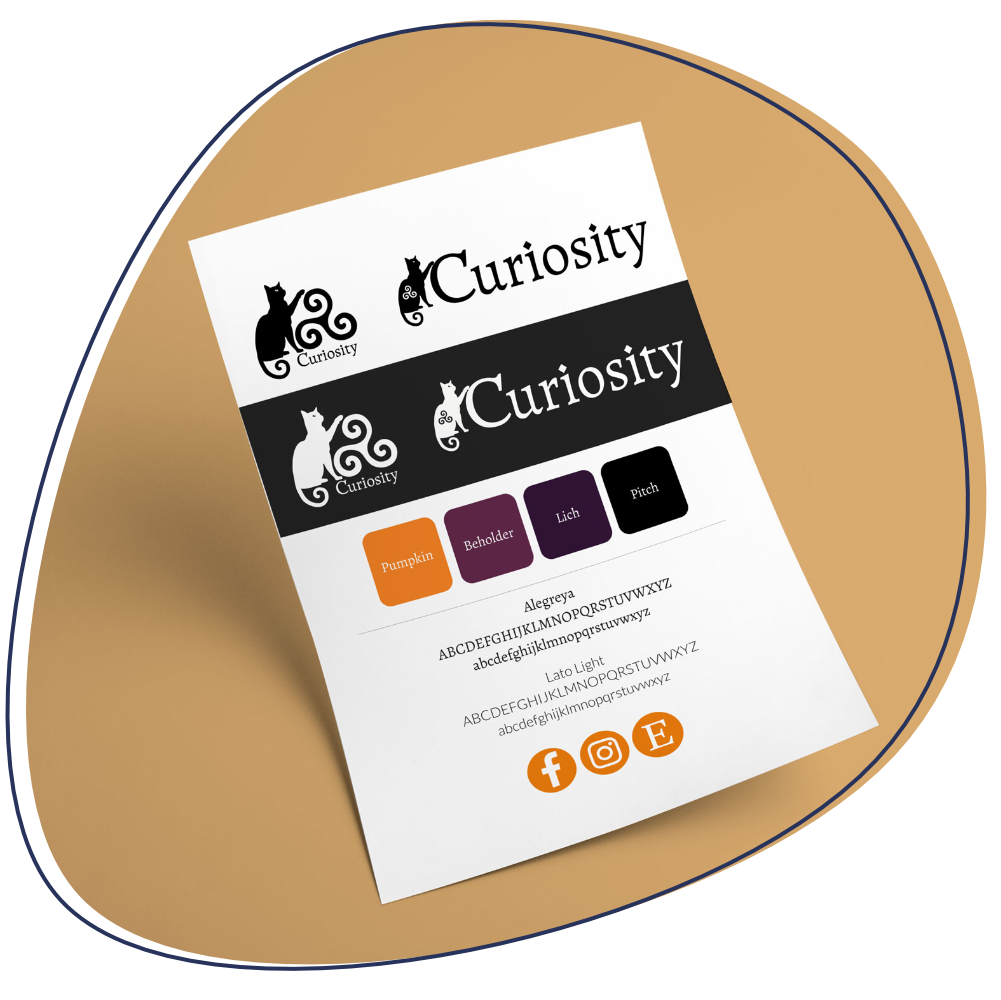 Curiosity Clothing brand guidelines